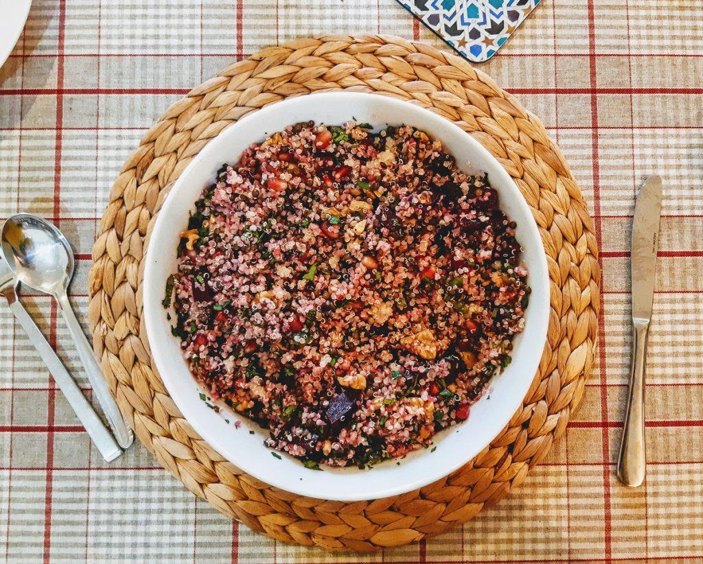 סלט עדשים, סלק וקינואה 2