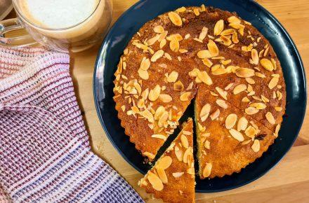 עוגת ריקוטה וקמח שקדים איטלקית 2