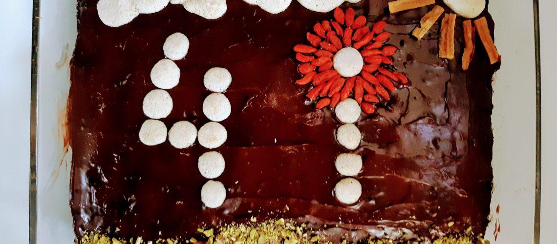 עוגת שוקולד-בננה טבעונית 2